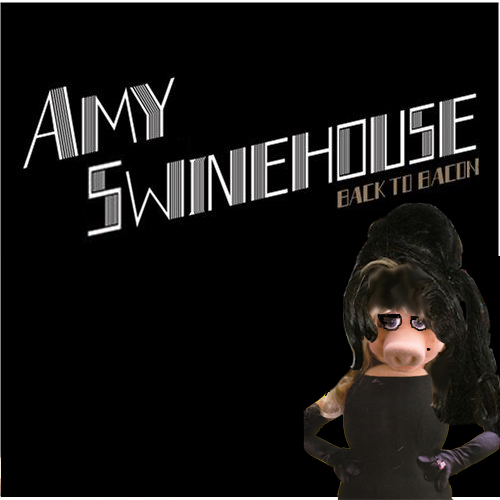 Album cover parody of Back to Black by Amy Winehouse