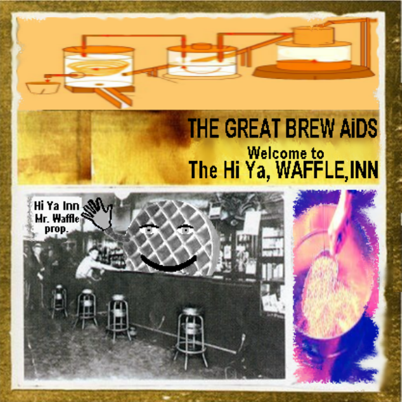 Album cover parody of Welcome to the Hiawatha Inn by The Great Crusades