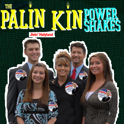 Album cover parody of Power Shake Live by The Paladins
