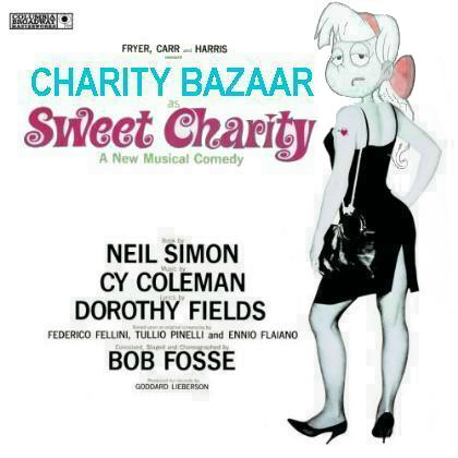 Album cover parody of Sweet Charity by Cy Coleman