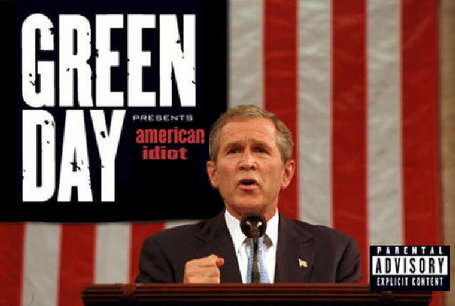 Album cover parody of American Idiot (Album Version) by Green Day