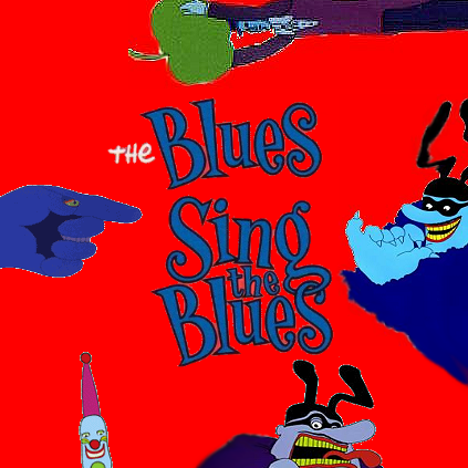 Album cover parody of The Simpsons Sing the Blues by Various Artists