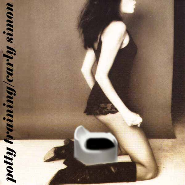 Album cover parody of Playing Possum by Carly Simon
