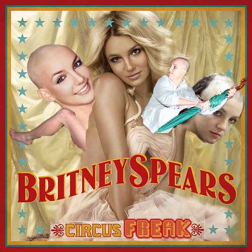 Album cover parody of Circus by Britney Spears
