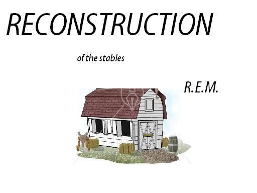 Album cover parody of Reconstruction of the Fables by R.E.M.