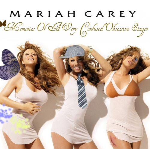 Album cover parody of Memoirs Of An Imperfect Angel by Mariah Carey