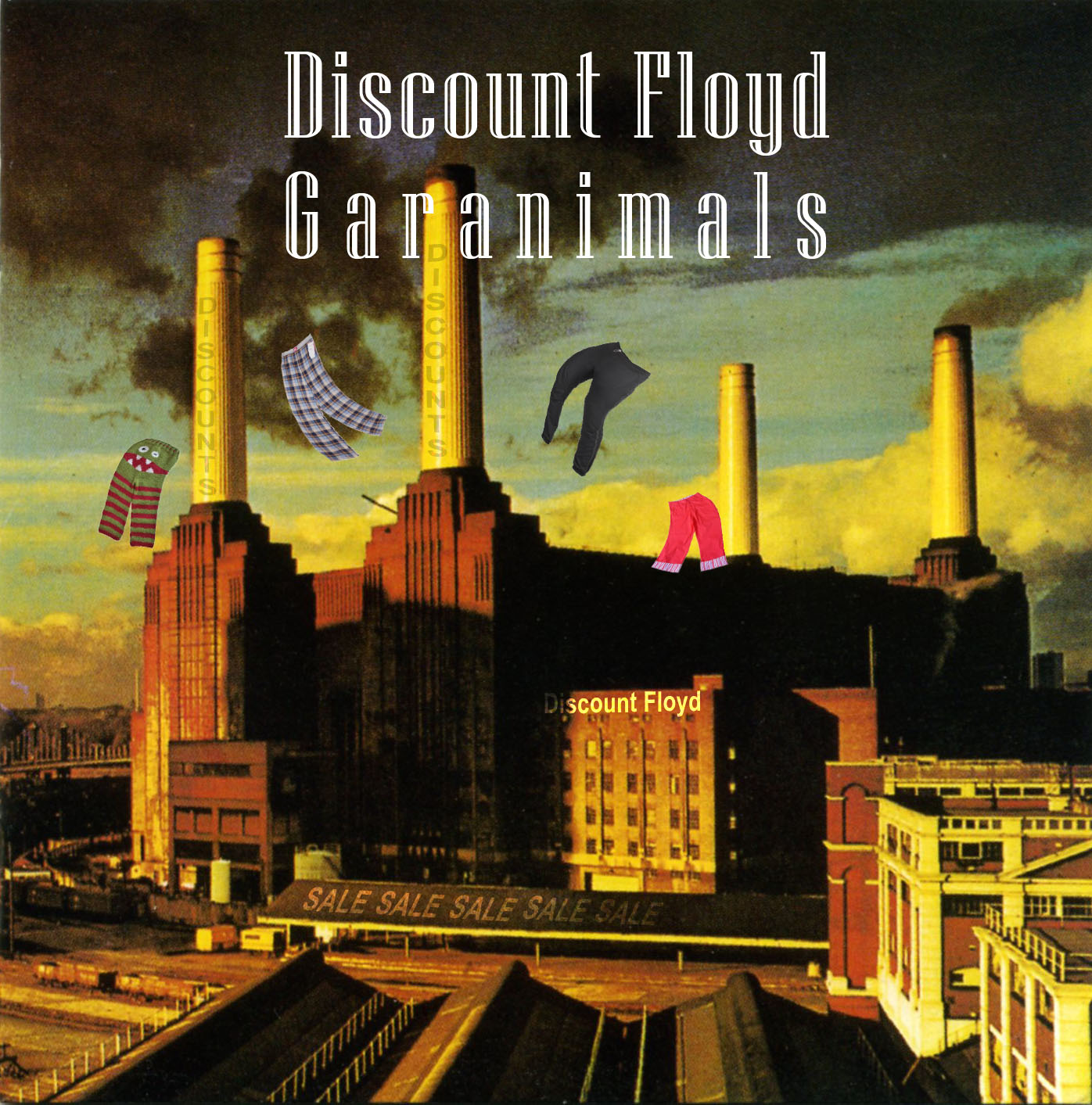 Album cover parody of Animals by Pink Floyd