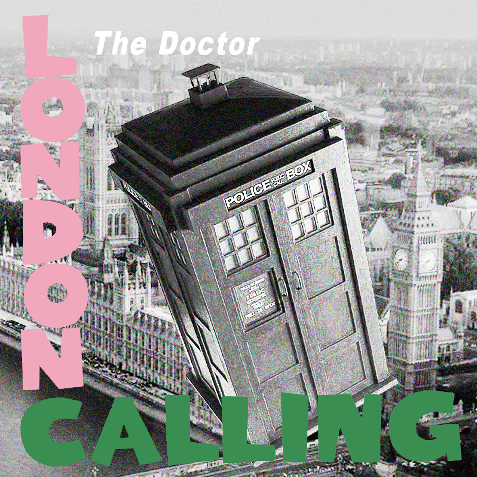 Album cover parody of London Calling by The Clash