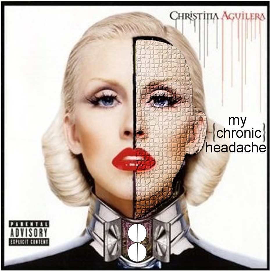 Album cover parody of BIONIC by Christina Aguilera