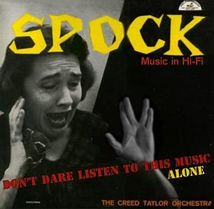 Album cover parody of Shock Music In Hi-Fi by The Creed Taylor Orchestra
