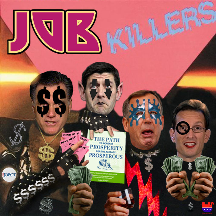 Album cover parody of Killers by Kiss