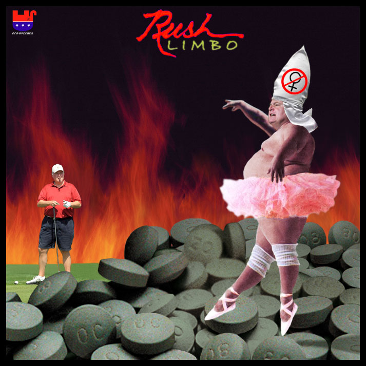 Album cover parody of Hemispheres by Rush