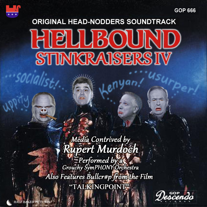 Album cover parody of Hellbound: Hellraiser II - Original Motion Picture Soundtrack, Also Features Music From The Film by Original Motion Picture Soundtrack
