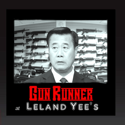 Album cover parody of In Guns At Cyrano's by Rum Runner