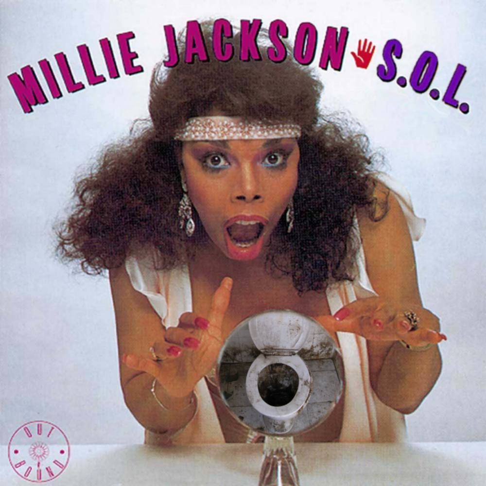 Album cover parody of E.S.P. (Extra Sexual Persuasion) by Millie Jackson