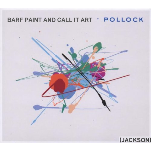 Album cover parody of Pollock by Jurgen Friedrich