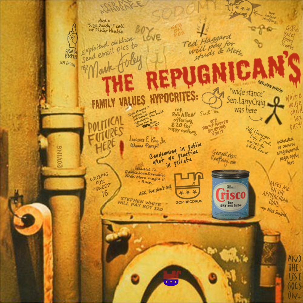 Album cover parody of Beggars Banquet by Rolling Stones
