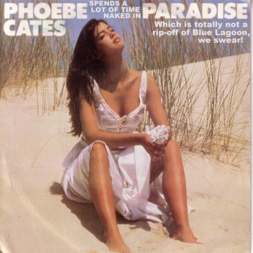 Album cover parody of Paradise by Phoebe Cates