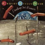 Album cover parody of Live It Up by Crosby Stills & Nash