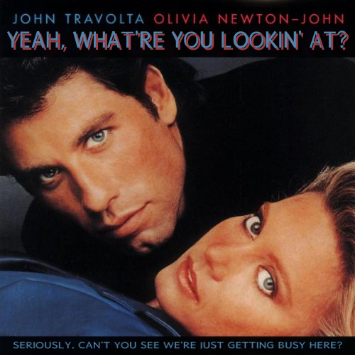 Album cover parody of Two Of A Kind (1983 Film) by Olivia Newton-John, John Travolta, et al.