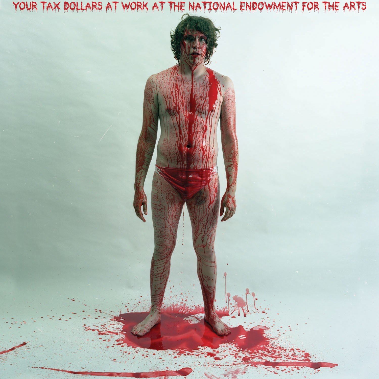 Album cover parody of Blood Visions [Vinyl] by Jay Reatard