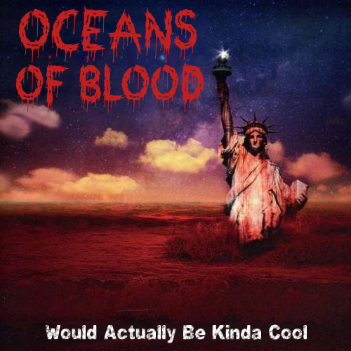 Album cover parody of World Covered In Blood by X-Sinner