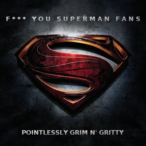 Album cover parody of Man of Steel: Original Motion Picture Soundtrack by Hans Zimmer