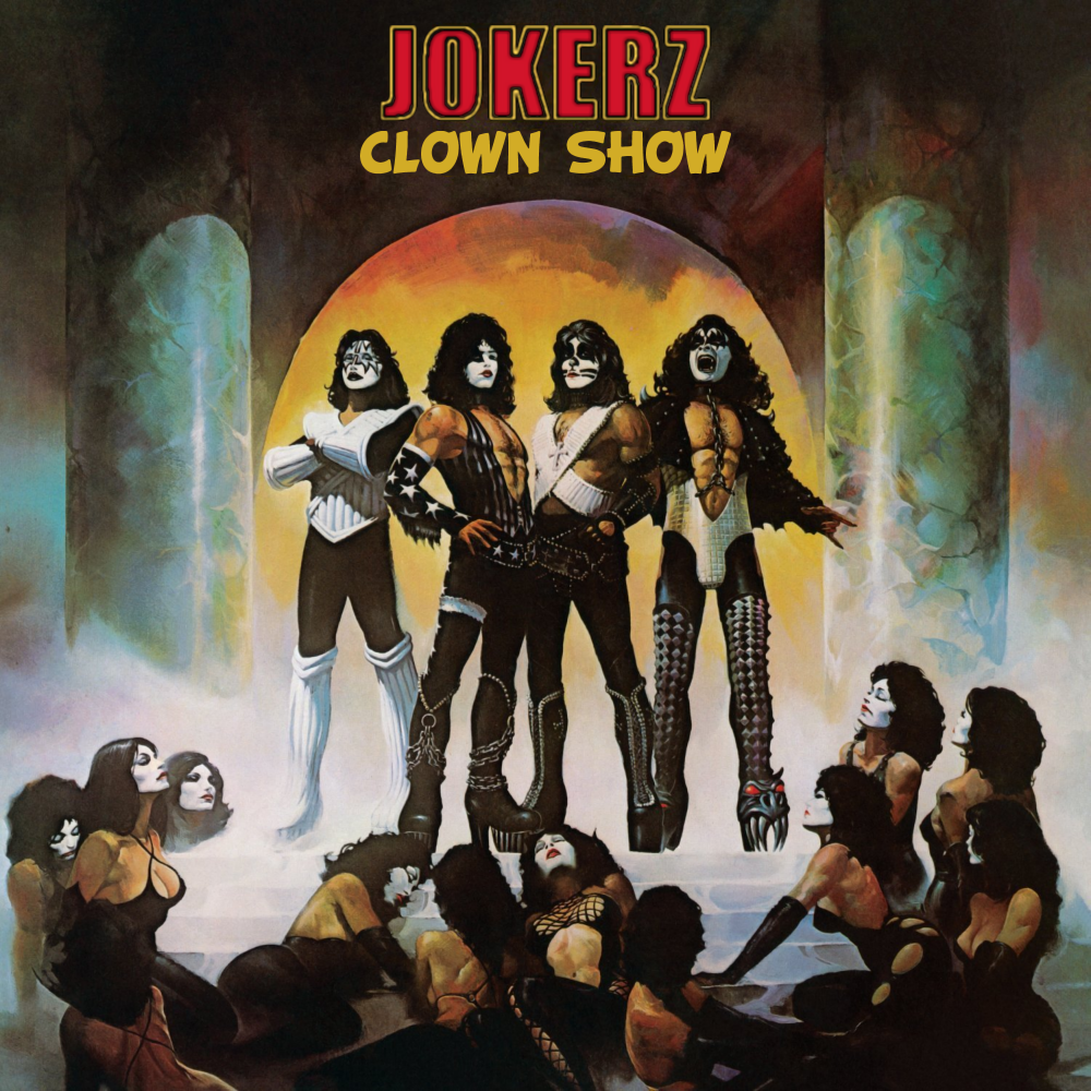 Album cover parody of Love Gun by Kiss