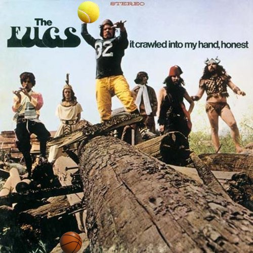 Album cover parody of It Crawled Into My Hand, Honest (180 Gram Vinyl) by The Fugs