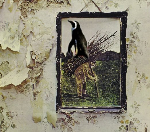 Album cover parody of Led Zeppelin IV (Deluxe CD Edition) by Led Zeppelin