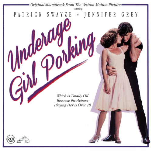 Album cover parody of Dirty Dancing: Original Soundtrack From The Vestron Motion Picture by Various
