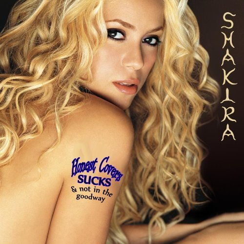 Album cover parody of Laundry Service by Shakira
