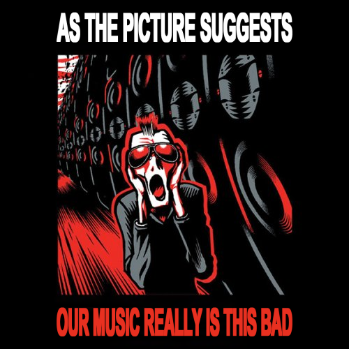 Album cover parody of Amnesia by KMFDM