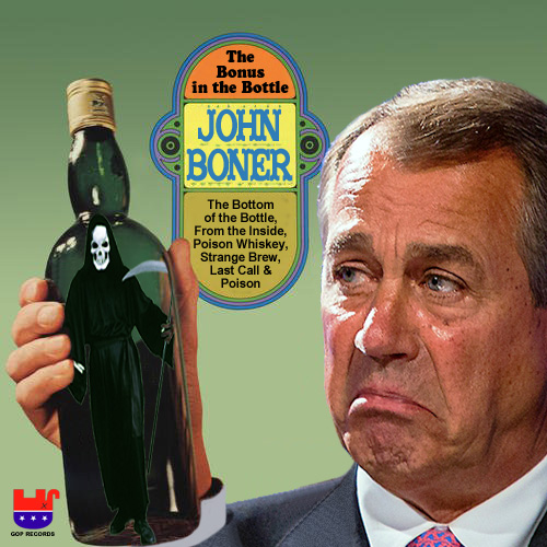 Album cover parody of The Bottom Of The Bottle / Confessions Of A Broken Man by Porter Wagoner
