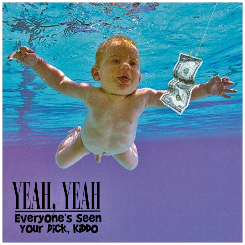 Album cover parody of Nevermind by Nirvana