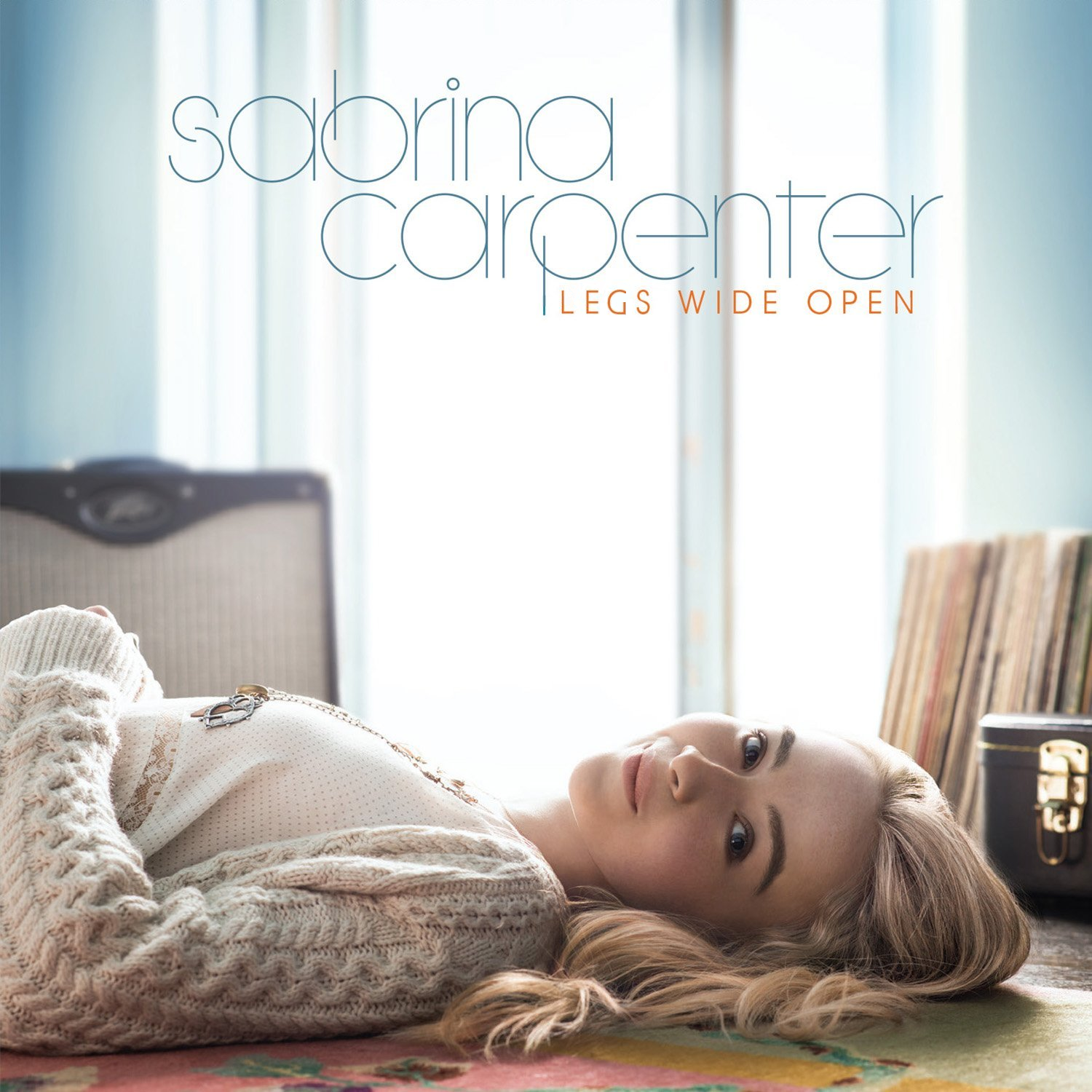 Album cover parody of Eyes Wide Open by Sabrina Carpenter
