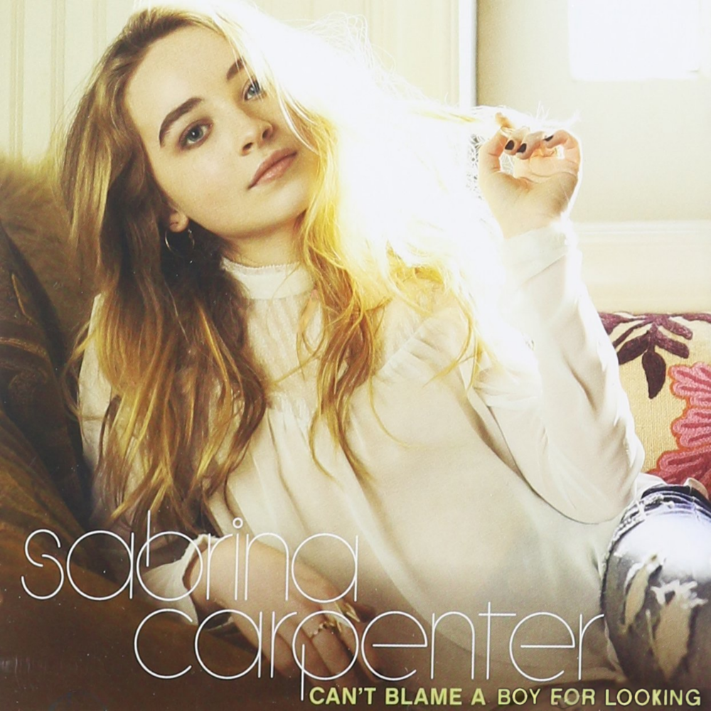 Album cover parody of Can't Blame a Girl for Trying by Sabrina Carpenter