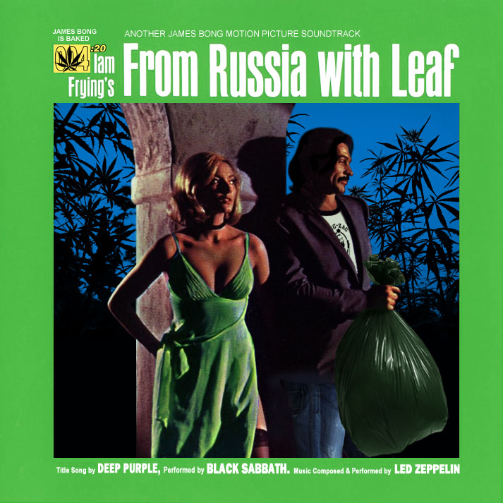 Album cover parody of From Russia With Love - Soundtrack by James Bond - OST