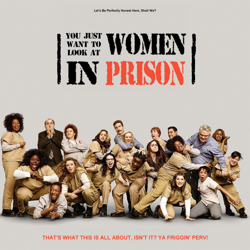 Album cover parody of Orange Is The New Black by Gwendolyn Sanford