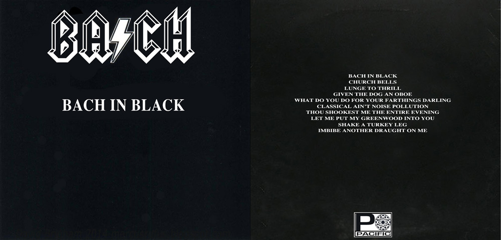 Album cover parody of Back in Black by AC/DC