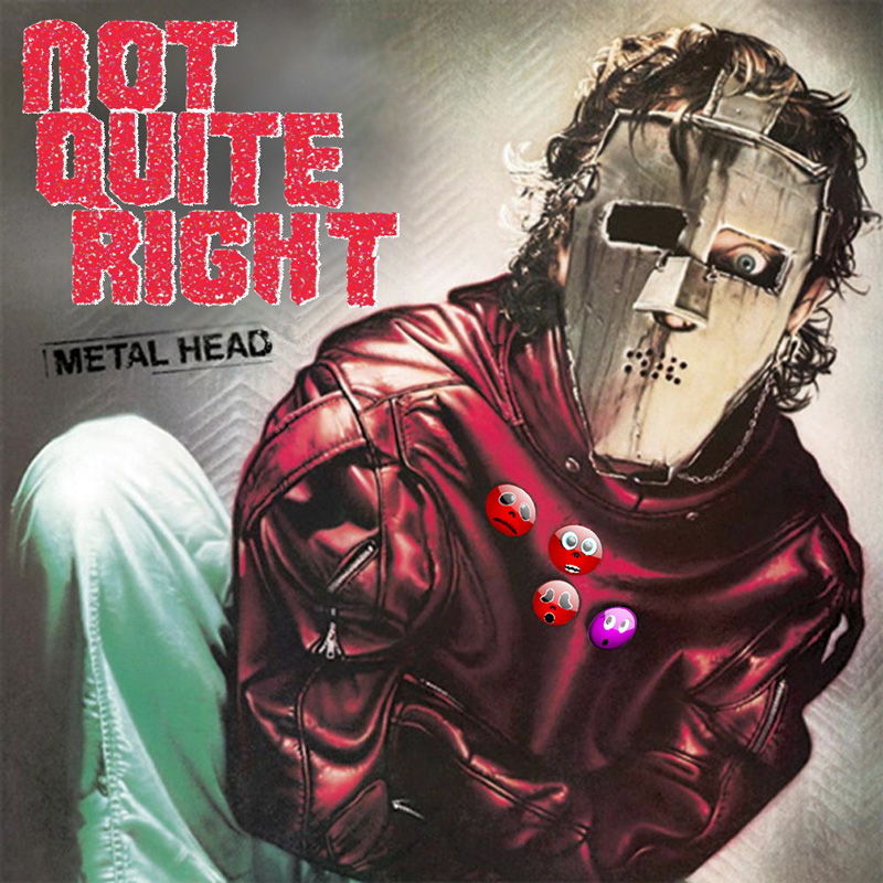 Album cover parody of Metal Health by QUIET RIOT