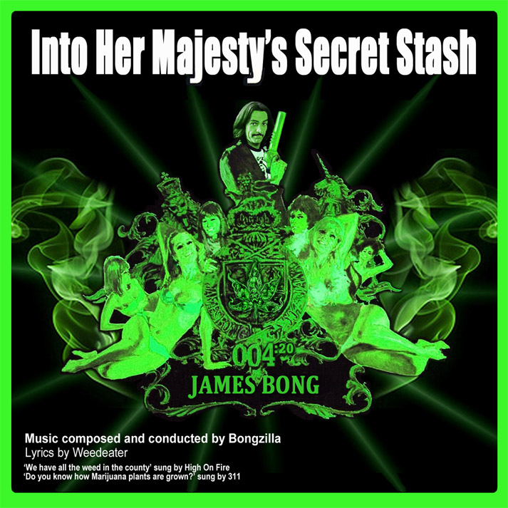 Album cover parody of On Her Majesty's Secret Service by James Bond - OST