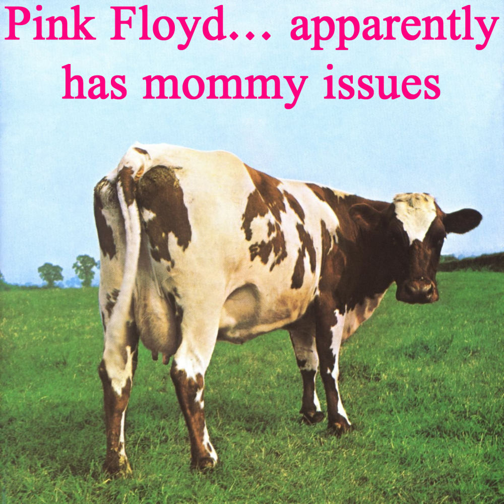 Album cover parody of Atom Heart Mother by Pink Floyd
