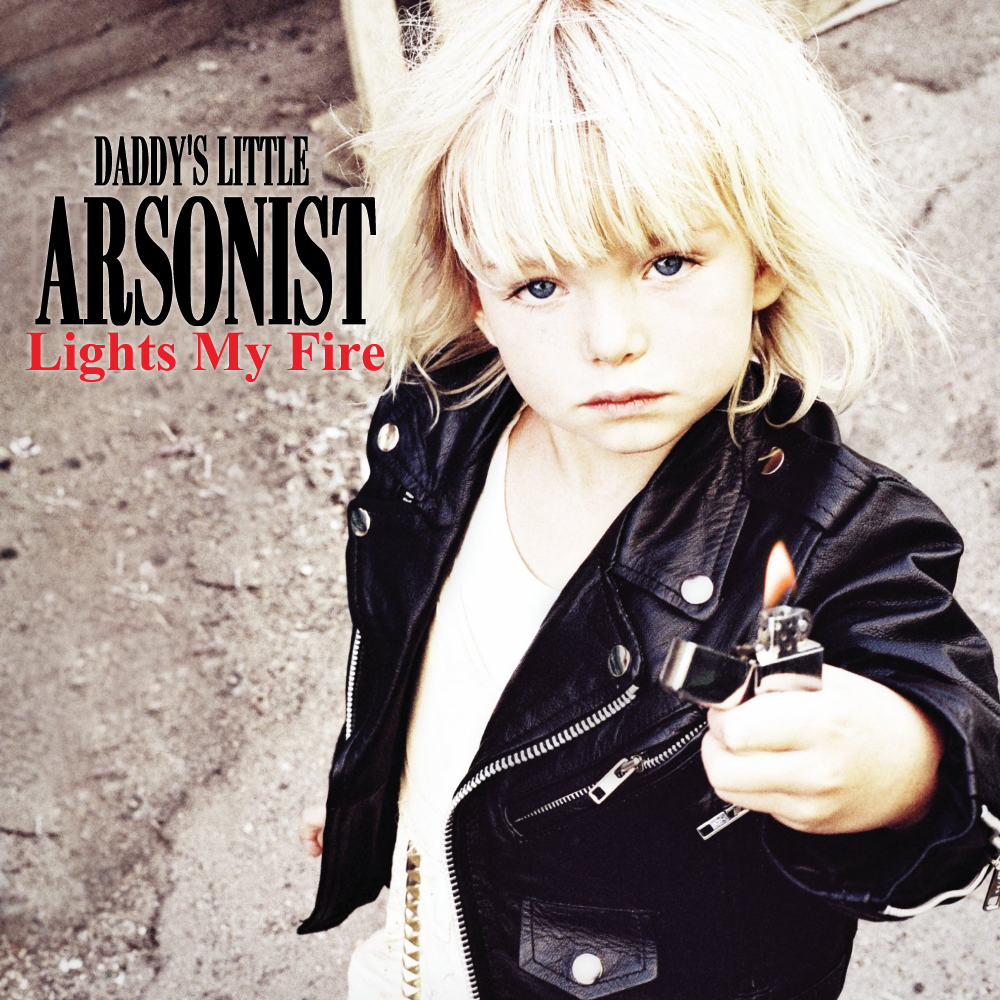 Album cover parody of Light Me Up by The Pretty Reckless