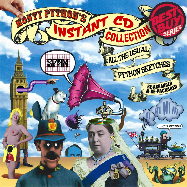 Album cover parody of Instant Record Collection by Monty Python