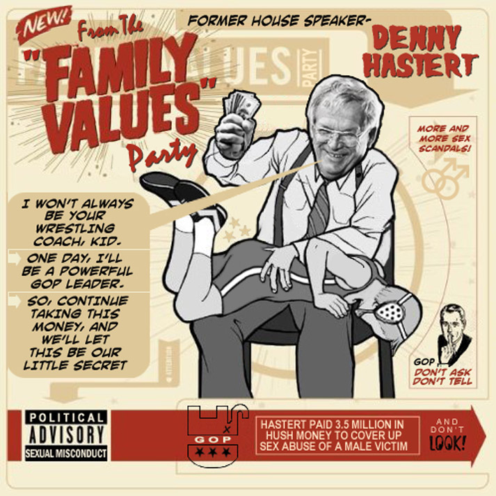Album cover parody of THE FAMILY VALUES TOUR 2001 by Various Artists