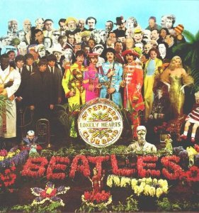 Album cover parody of The Beatles Sgt Peppers Lonely Hearts Club Band by The Beatles