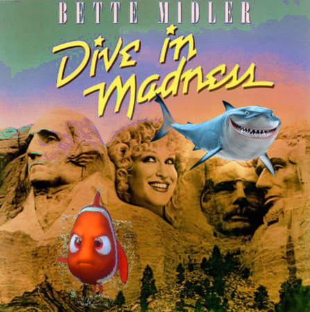 Album cover parody of Divine Madness Soundtrack by Bette Middler
