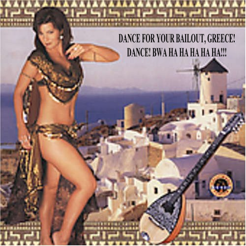 Album cover parody of Greek Belly Dance: Dance With Katia by Anto