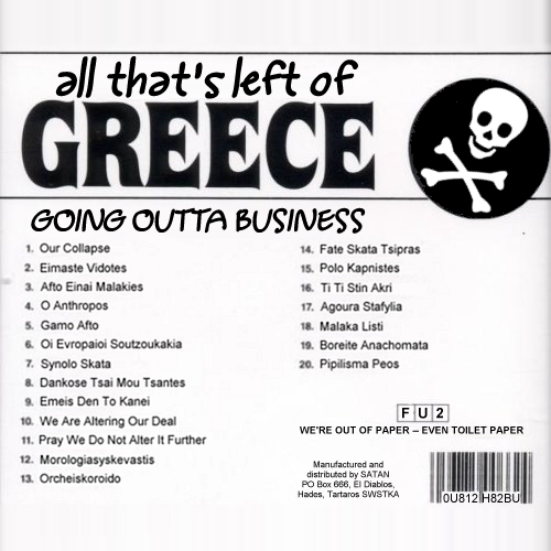 Album cover parody of All the Best From Greece by Various Artists